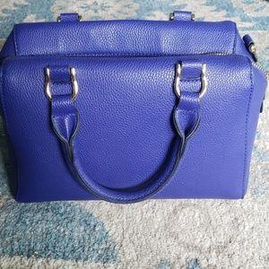Royal blue leather purse